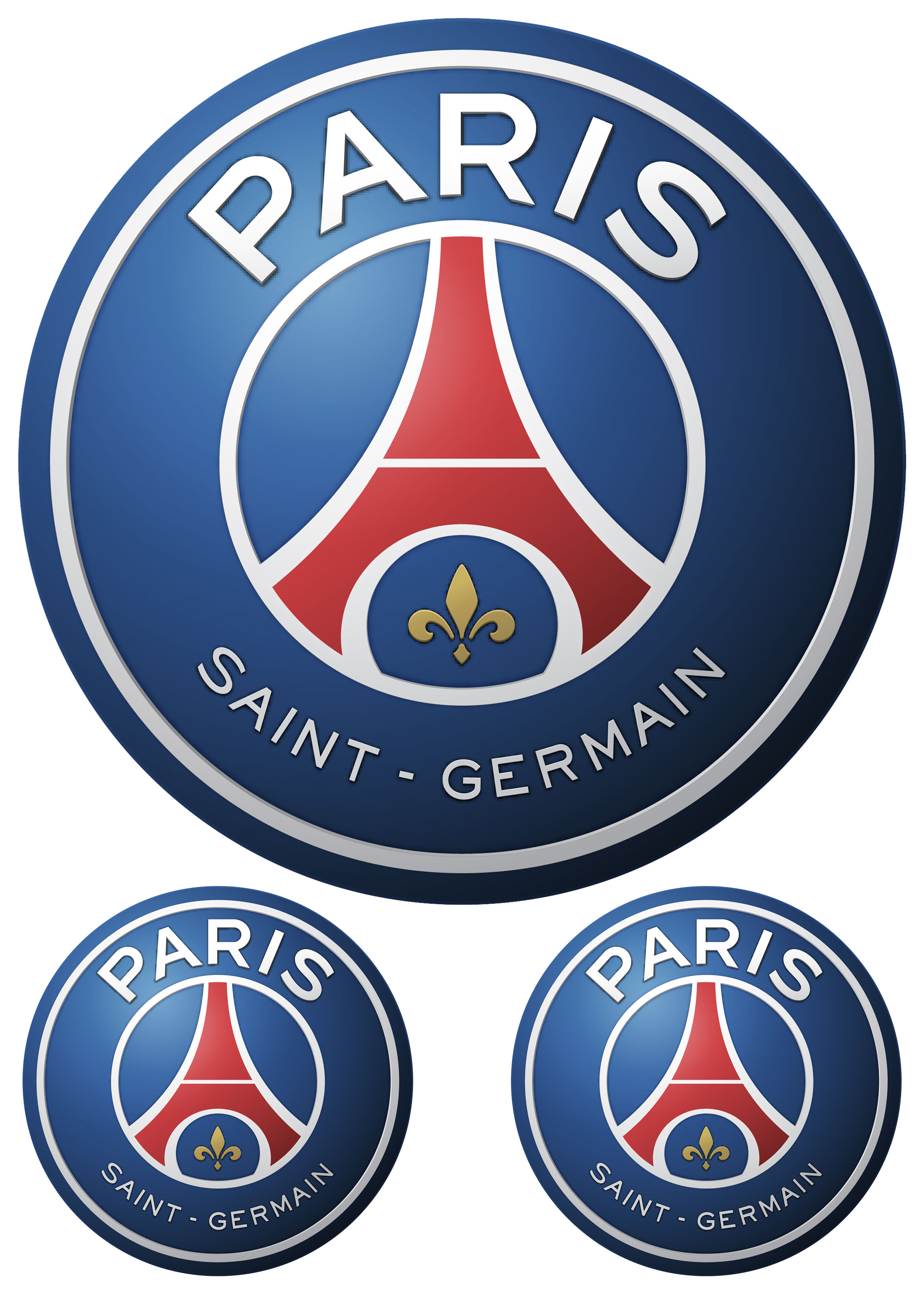 PSG Paris Saint-Germains logo nažehlovačka